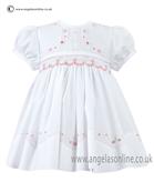 Sarah Louise Baby Dress 9699 WH/PK