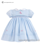 Sarah Louise Girls Dress 9708 Blue