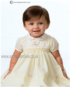 Sarah Louise Girls Dress 9708 Lemon