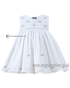 Sarah Louise Baby Dress 9820 WH/NY