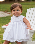 Sarah Louise Baby Dress 9820 WH/RD