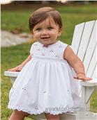 Sarah Louise Baby Dress 9820 WH/RD