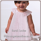 Sarah Louise Baby Dress 9688 White