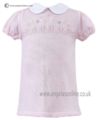 Sarah Louise Girls Dress 9728 PK/WH
