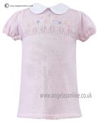 Sarah Louise Girls Dress 9728 PK/WH