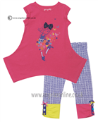 Deux par Deux Girls Top & Leggings B75/B61 Fuchsia