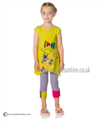 Deux par Deux Girls Top & Leggings B75/B61 Yellow
