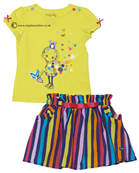Deux par Deux Girls Top & Skirt B73/B87 Yellow