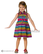 Deux par Deux Girls Dress B98 Multi Stripe