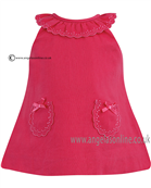 Sarah Louise Girls Dress 9785 Cerise