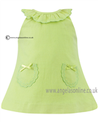 Sarah Louise Girls Dress 9785 Lime