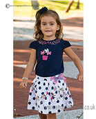 Sarah Louise  Girls Top & Skirt 9853/9854