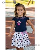 Sarah Louise  Girls Top & Skirt 9853/9854