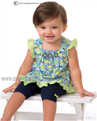 Sarah Louise Girls Top & Leggings 9878