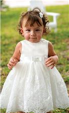 Sarah Louise Girls Christening Dress 070017 White