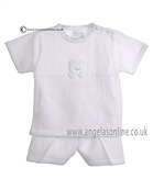 Pex Baby Boys Rupert Top & Short B5884 WH/BL