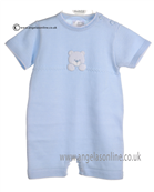 Pex Baby Boys Blue White Rupert Bubble B5885