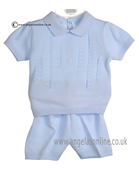 Pex Baby Boys Blue Oliver 2 Pce Outfit B5909