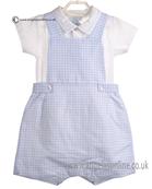 Laranjinha Baby Boys Blue and White Body & Bib Short 5209/5204