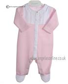 Laranjinha Baby Girl Pink and White Romper 5113