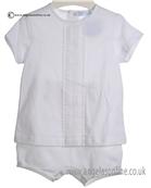 Laranjinha Baby Boy White 2 Piece 5116