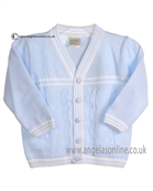Pretty Originals Baby Boys Blue and White Cardigan JP86090
