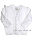Pretty Originals Baby Boys White Cardigan JP86090