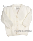 Pretty Originals Baby Boys Cream Cardigan JP86090