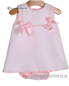 Pretty Originals Baby Girls Pink Dress & Knicks MB10171