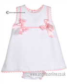 Pretty Originals Baby Girls White Dress & Knicks MB10171