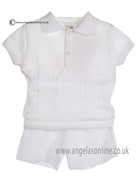 Pretty Originals Baby Boys White Top & Shorts JP86185