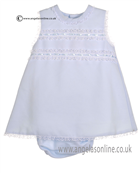 Pretty Originals Baby Girls Pale Blue Dress MB10121E