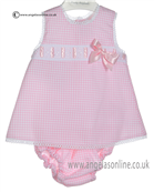 Pretty Originals Baby Girls Pink and White Dress & Knicks MB10173E