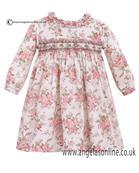 Sarah Louise Pink Foral Baby Girls Dress 10082