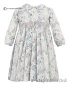 Sarah Louise Girls Floral Print Ivory/Pink/Mint Dress 10045