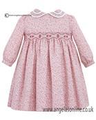 Sarah Louise Winter Dress Ivory/Pink/Brown 10079