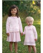 Dani Girls Cable Knit Matching Top & Skirt Suit D4736/D4737 PINK