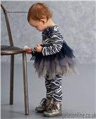 Kate Mack Girls Tunic & Legging 516WS Navy/Grey