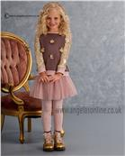 Kate Mack Girls Top Skirt & Legging 568/571/576HGC Cocoa