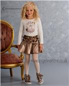 Kate Mack Girls Top & Skirt 569/572HGC Bronze
