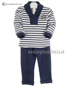 Tutto Piccolo Boys Shawl Collar Jersey Top & Pants 8824/8110