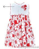 Sarah Louise Dress 010430 WH/RD