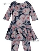 Kate Mack floral dress & leggings 536-548IR Multi