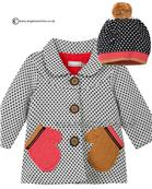 Catimini baby girls coat & bobble hat CI44021-CI90131