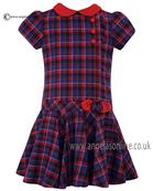 Sarah Louise short sleeve girls winter dress 010611 AS SAMPLE