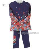 Boboli girls dress & leggings 402051-452067