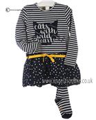 Boboli girls Stripe dress & tights 412030-412074