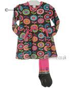 Boboli girls dress & tights 242031-242154