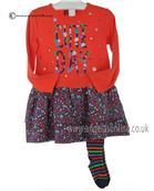 Boboli girls dress & tights 402040-402118