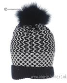 Bufi Boys Fur pom Hat 9826SC Navy